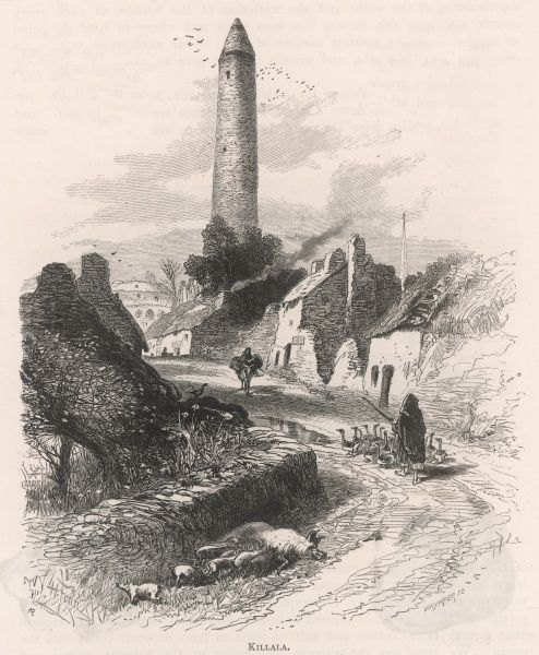 A rural Irish scene in Killala