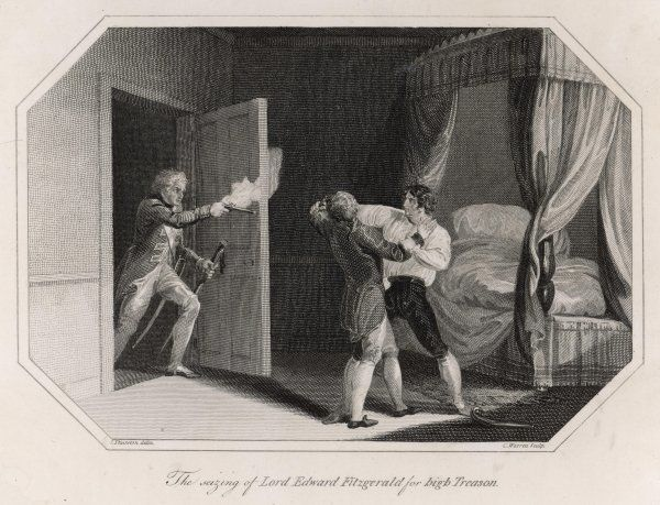 The arrest of Lord Edward Fitzgerald for high treason