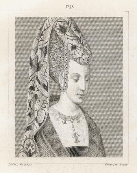 ISABEAU DE BAVIERE queen of Charles VI of France