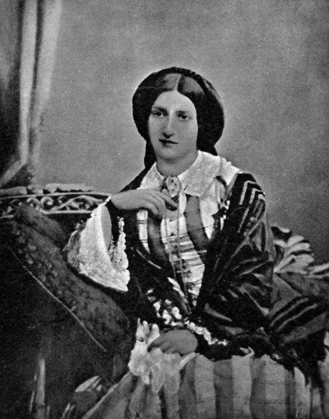 Photographic portrait of Isabella Mary Beeton, nee Mayson, the English cookery writer, pictured c.1856. Beeton's 'Book of Household Management', first published in 1859, made her name a household word