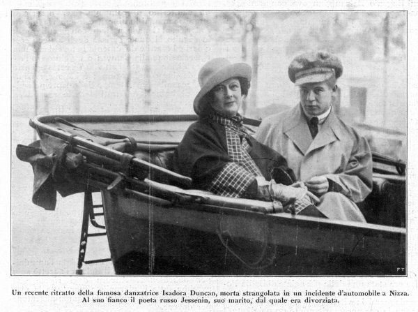 ISADORA DUNCAN American dancer with her husband, the Russian poet Jessenin