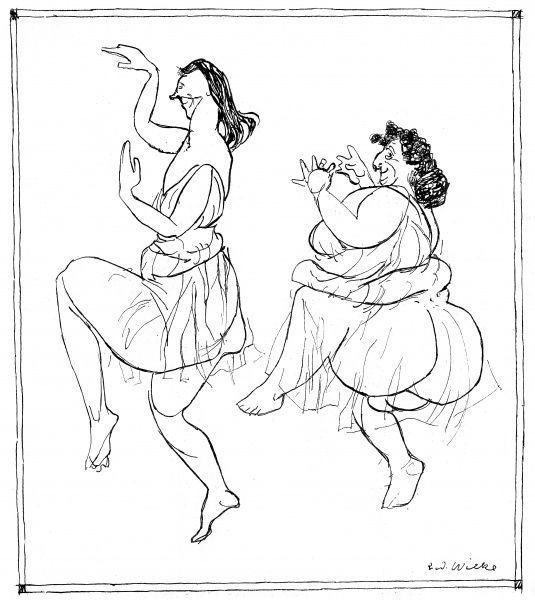 ISADORA DUNCAN Inspired by the American dancer, German ladies try to dance as she does Date: 1878 - 1927