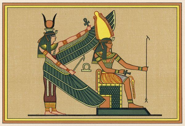 ISIS with PTAH-SEKER-AUSAR god of the resurrection
