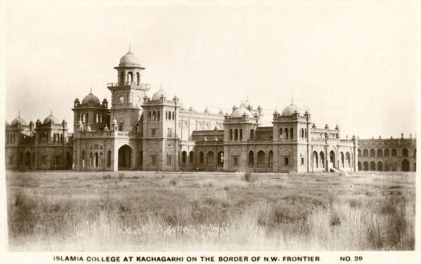 Islamia College - Kachagarhi, Pakistan, Built between 1909-13 between Peshawar and Jamrud under the guidance of Sir George Roos-Keppel on the same lines as Gordon College in Khartoum, Sudan. Date: 1924
