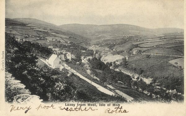 Isle of Man - Laxey - viewed from the West Date: 1903
