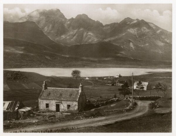 Isle of Skye - Blaven and Loch Slapin viewed from Torrin Village Date: circa 1920s