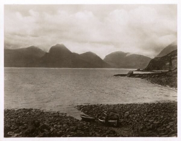 Isle of Skye - The Cuilins viewed from Loch Scavaig. Date: circa 1920s