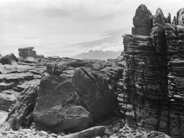A peculiar rock formation at Elgol, Isle of Skye, Scotland. Date: BC