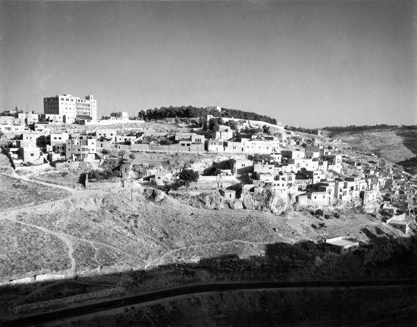 The Hebron Valley, viewed from Jerusalem, Israel. Date: 1960s