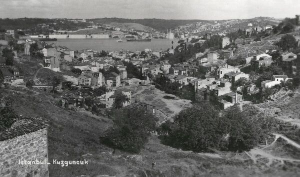 Asian side of Bosphorus, Istanbul - looking across - the village of Kuzguncuk, set in an attractive valley between Uskudar and Beylerbey