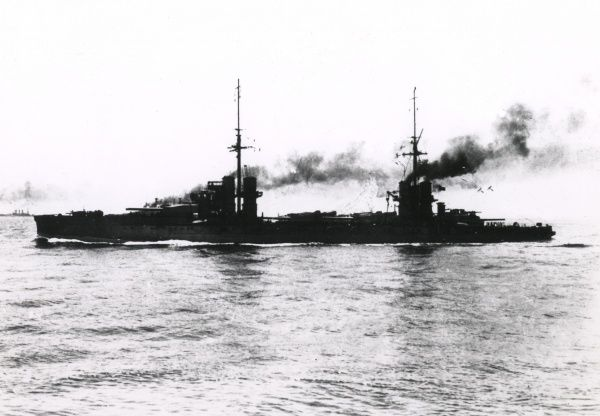 The Italian dreadnought battleship Dante Alighieri, launched 1910, completed 1913, served during the First World War, decommissioned 1928. Date: early 20th century