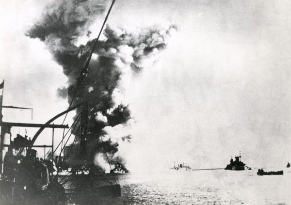 Italian naval action at sea during the First World War. Date: 1915-1918