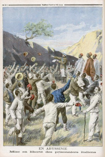 Italian prisoners are released after the Ethiopian war, the greatest defeat of a European army by an african force since Hannibal