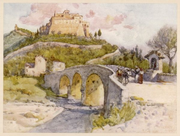 Assisi: the Monastery of San Francesco Date: 1908