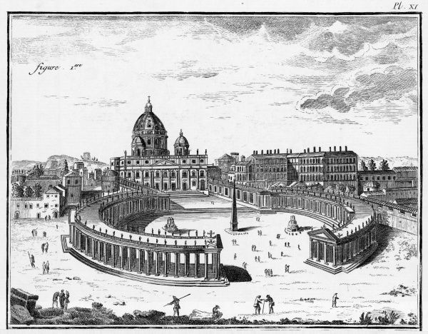 La chiesa di San Pietro and the Vatican, in the 18th century
