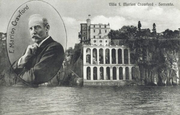 Italy - Sorrento, a small coastal city in Campania, southern Italy - the Villa owned by Francis Marion Crawford (1854 1909) - an American writer noted for his many novels, especially those set in Italy, and for his classic weird and fantastic stories