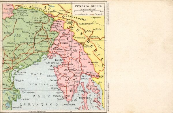 Italy - Venice - Map of the local region Date: circa 1910s