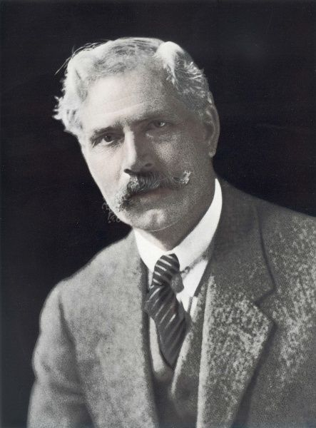 False-coloured photograph of J. Ramsay Macdonald (1866-1937), Labours first opposition leader in 1923
