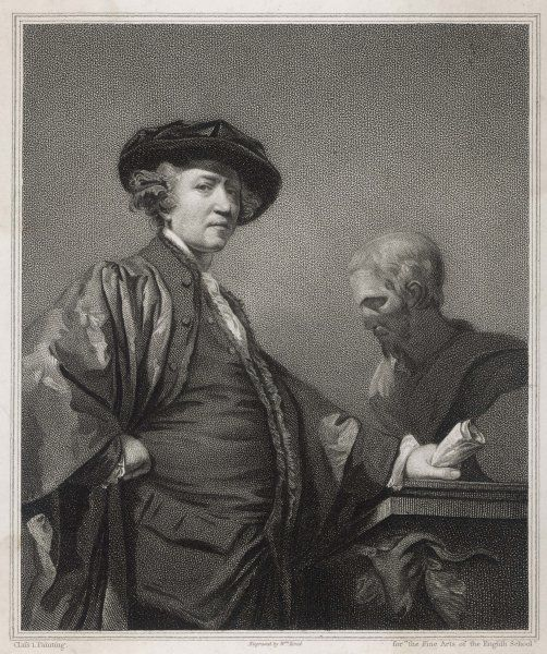 SIR JOSHUA REYNOLDS English portrait painter and president of the Royal Academy