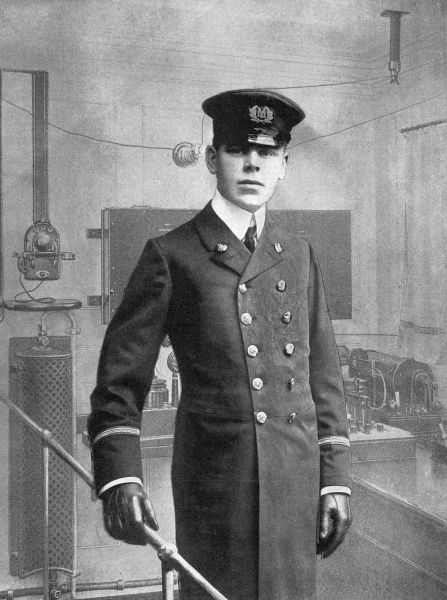 Jack Binns, the wireless-telegraph operator on the RMS Republic that sank after colliding with the SS Florida on 23rd January 1909, near Nantucket, Massachusetts
