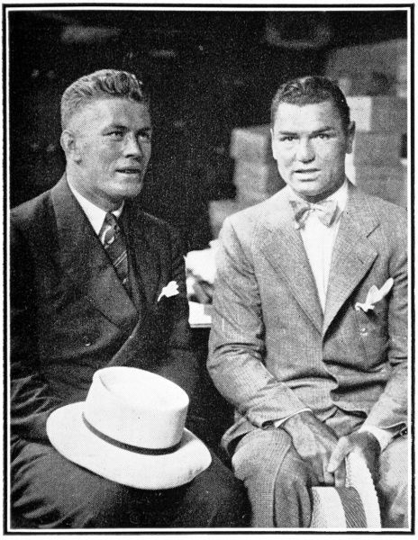 Photograph showing Jack Dempsey (1895-1983) (left) and Gene Tunney (1897-1978), the heavyweight boxers who fought for the World Championship in 1926 and 1927