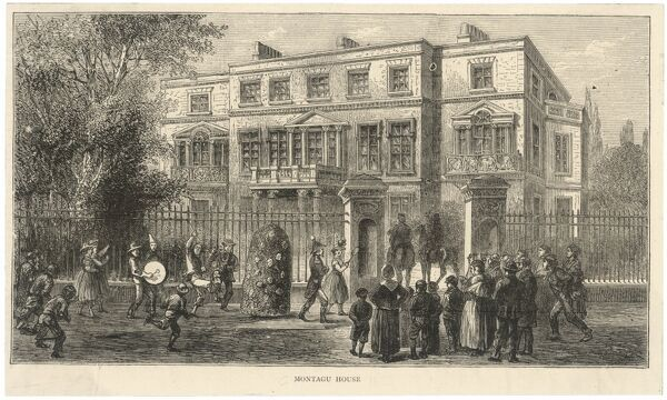'Jack-in-the-Green' is performed outside Montagu House, Portman Square, London. The house was originally built in 1782 for Elizabeth Montagu, a noted social figure