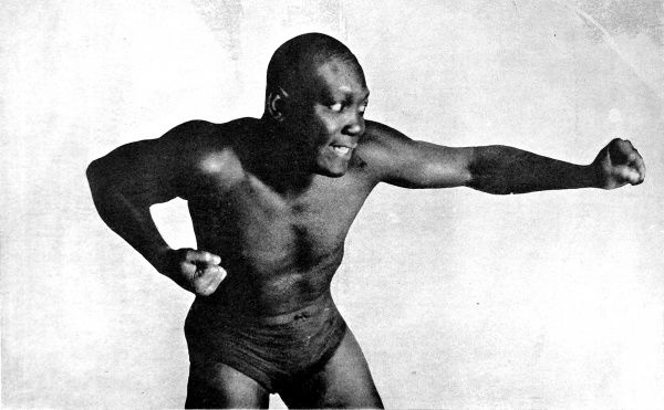 Photographic portrait of Arthur John Johnson, better known as Jack Johnson, the American heavyweight boxer, pictured in 1908. Johnson was the World Heavyweight Champion between 1908 and 1915