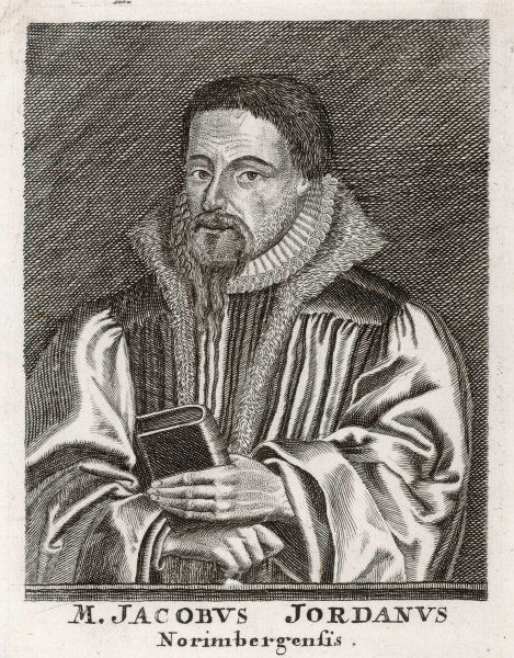 JACOB JORDAN German churchman of Nurnberg, professor of theology