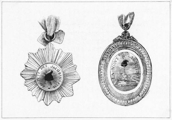 The Club or Societe des Jacobins, also calling themselves Montagnards, wear this medal with pride - perhaps even as they go to the guillotine