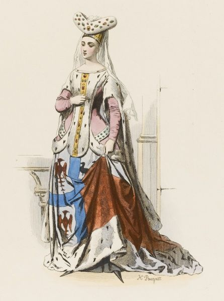 JACQUELINE de LA GRANGE, wife of Jean de MONTAIGU (French statesman - we have his portrait too) - lady of the French court