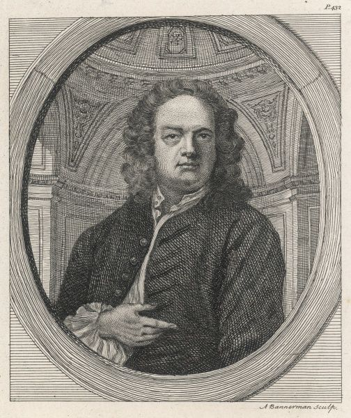 JAMES GIBBS - British architect (Radcliffe Camera, Oxford and St Martins- in-the-fields etc.)
