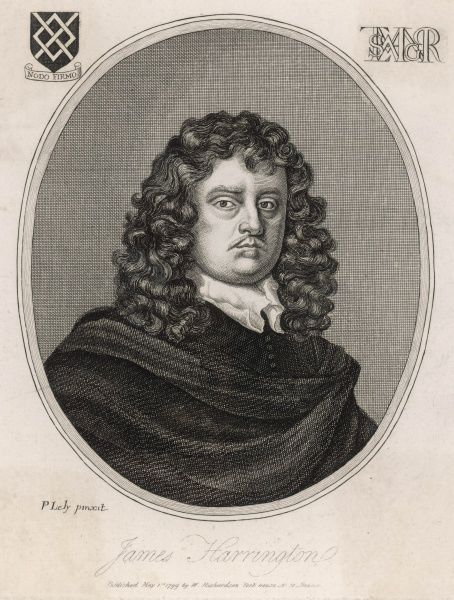 JAMES HARRINGTON political theorist, author of 'The Commonwealth of Oceana' which may have inspired the Pilgrim Fathers