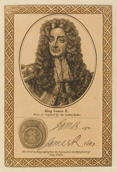 JAMES II not one of the finest ornaments of the British monarchy with his autograph