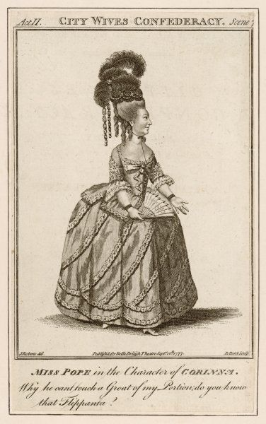JANE POPE actress as Corinna in John Vanbrugh's 'The City Wives' Confederacy&#39