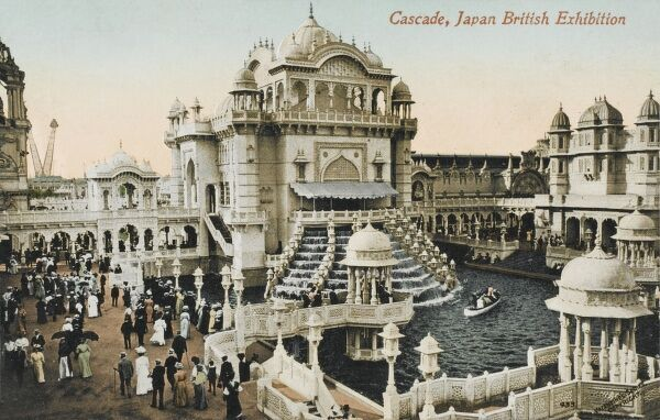 The Japan-British Exhibition at White City, London. Utilised the site of the Franco-British exhibition of 1908. The Cascade