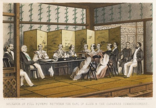 Lord Elgin's diplomatic mission to Japan : exchange of powers with the Japanese commissioners