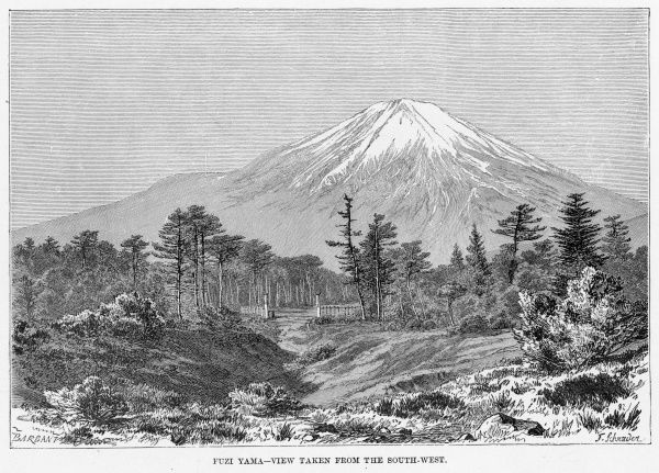 General view of the volcano
