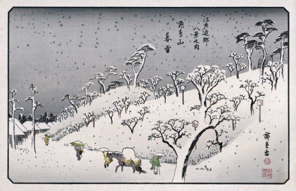Japanese scenery: winter in the countryside