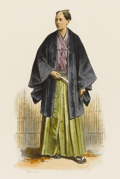 A Japanese official from Yedo (Tokyo) in his town dress