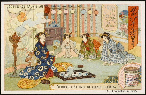 Social visits among the Japanese are apt to be very formal - the 'tea ceremony' is a ritualised affair and a hostess is judged by her ability to perform it well