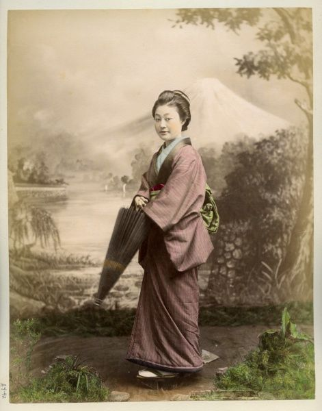 Japanese woman with umbrella