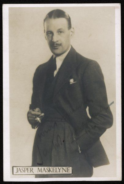 JASPER MASKELYNE English stage magician who used his skills of illusion in the Middle East during World War Two