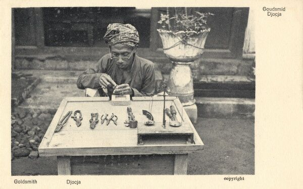 Java - A goldsmith at work Date: circa 1910s