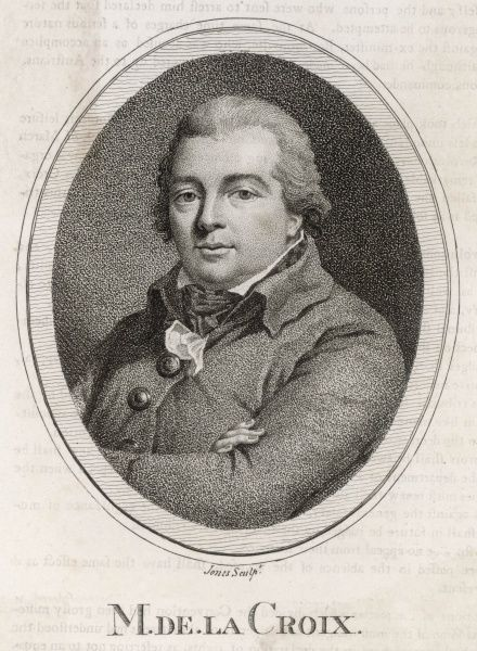 JEAN FRANCOIS DE LA CROIX French revolutionary statesman whose views earned him a rendezvous with Madame Guillotine