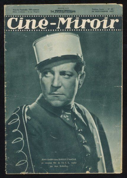 JEAN GABIN French actor in 'Gueule d'Amour&#39