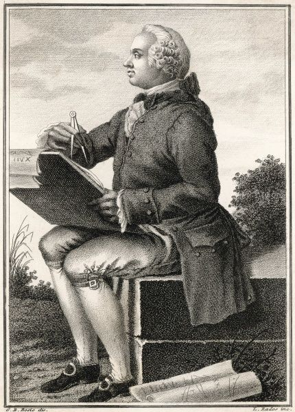 JEAN LE ROND D'ALEMBERT French scientist, mathematician and philosopher; collaborated with Diderot on the Encyclopedie