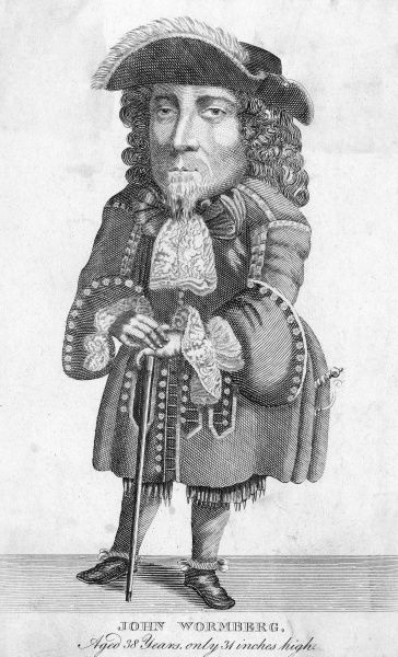 JEAN WORMBERGH Swiss dwarf, 96.5 cm tall, who visited London circa 1690 Date: flourished 1688