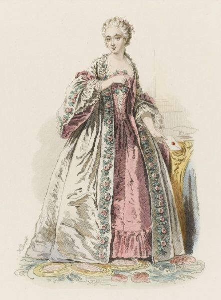 JEANNE, comtesse DU BARRY mistress of Louis XV. (from a picture by Drouais)