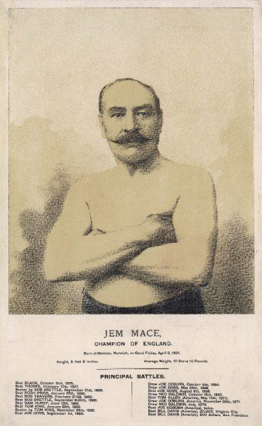 "Gypsy Jem Mace (1831 - 1910), English champion and known as the ""Father of Modern Boxing&quot"