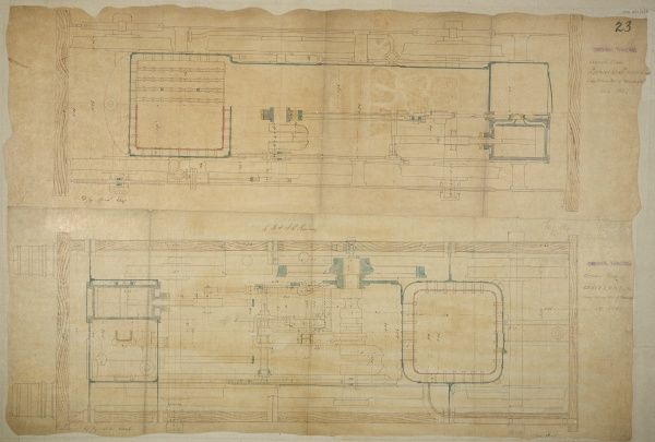 Jenny Lind and John Gray's London and Brighton engine, plans Date: 1846